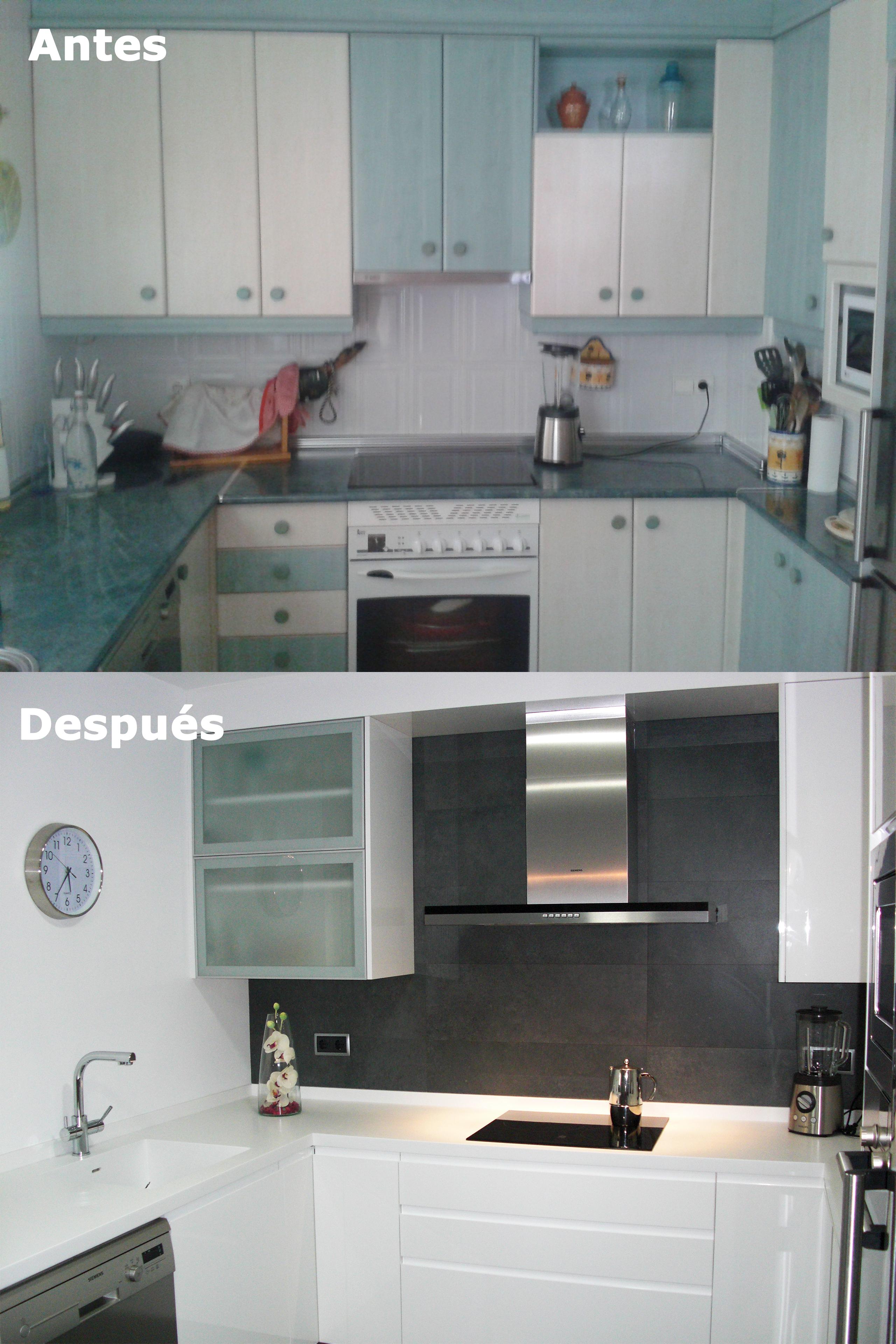 Antes y despu s en cocina reformada lm ingecon albacete - Cocinas en albacete ...