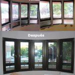 Aislamiento de fachada Rehabilitación de ventanal en curva