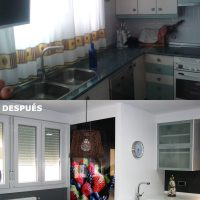 Antes y después Cocina reformada