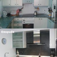 Antes y después en cocina reformada