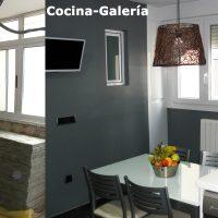 Antes y después de cocina y galería reformada
