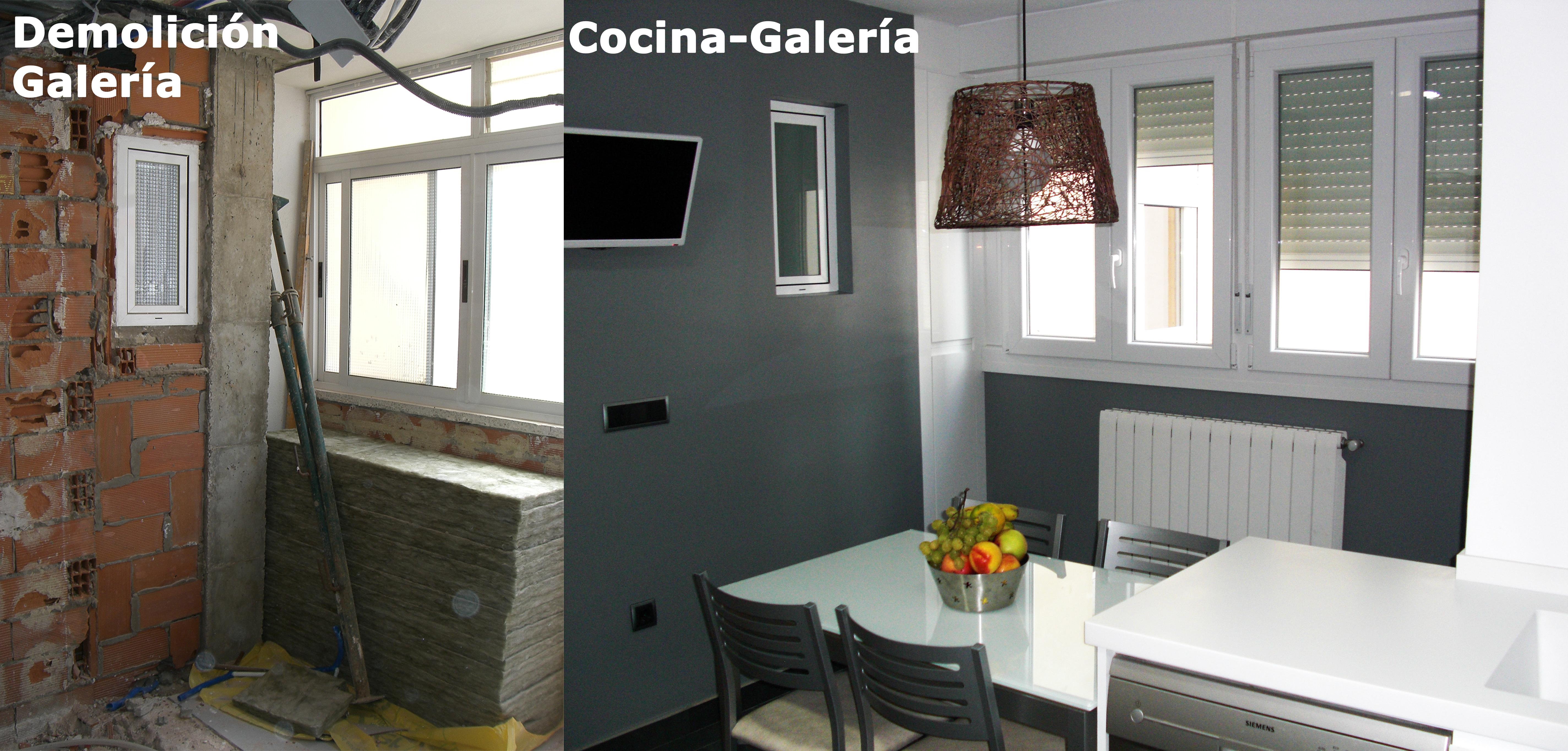 Antes y despu s de cocina y galer a reformada lm ingecon for Como renovar una cocina sin obras