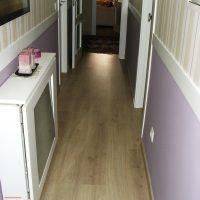 cambio de suelo laminado en pasillo